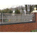 Iron Boundary Wall Railing