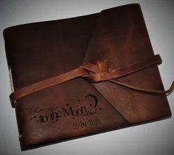 Engraved Leather Photo Album
