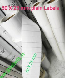 50 X 25 mm ( 2 X 1 inch) Plain Barcode Labels