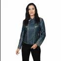 Women Ladies Biker Leather Jacket With Studs