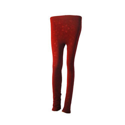 Red Embossed Leggings