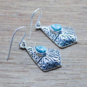 DESIGNER 925 STERLING SILVER JEWELRY TURQUOISE GEMSTONE EARRING WE-5455