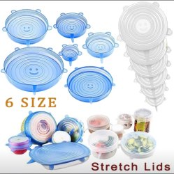 Silicone Stretch Lids 6 Pack Different Size