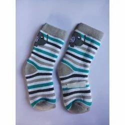 Usha Cotton Striped Kids Socks