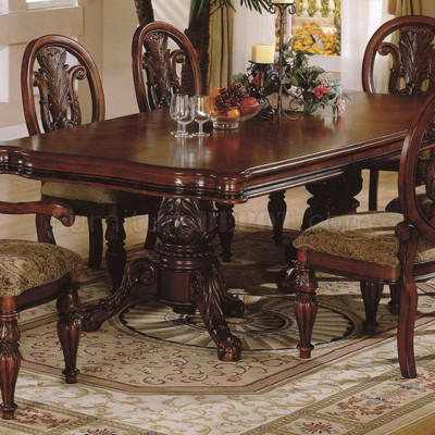 Handcarved Wooden 6 Seater Dining Set Size 22 Inch