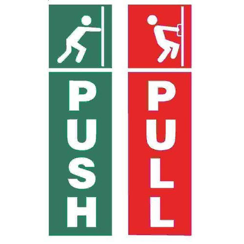 Red And Green Push Pull Signage Board Rs 650 Square Feet
