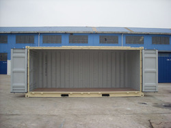 Open Side Shipping Container