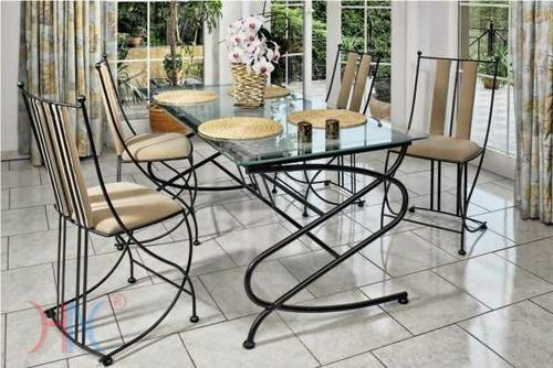 Wrought iron dining table railing manufacturer from - Salle a manger en fer forge et verre ...