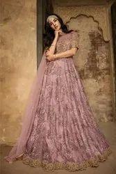 Ethnic Women Oracle Delightful Sequence Work Reception Wear Long Anarkali Gown