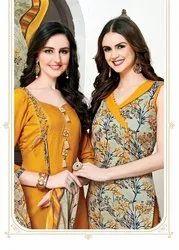 Cotton Floreon Jassi Patiyala Dress Material