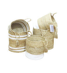 Manufacturers of Handwoven Jute Material Storage Basket