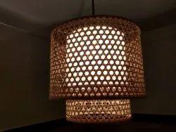 Sanjhbati LED Handmade Bamboo Ceiling Hanging Light, For Home