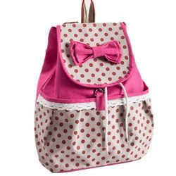 Leather, Polyster Girls College Bag, For Individual