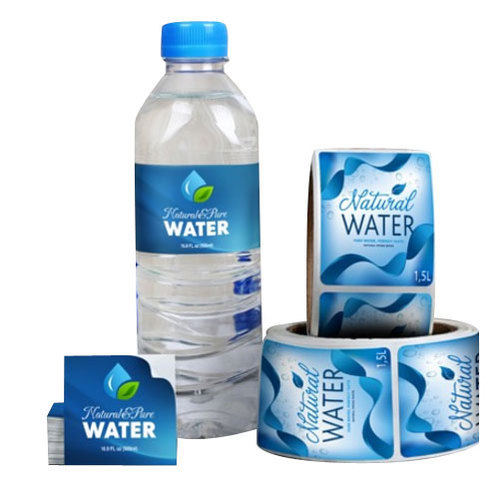 Printed Water Bottle Label Packaging Type Roll Rs 1 5 Piece Id