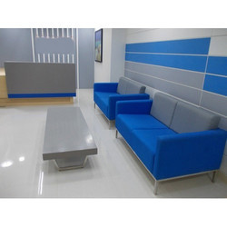 Blue And Grey Office Waiting Room Sofa
