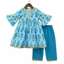 Kids Cotton Frock With Pant