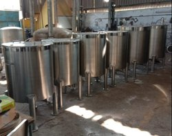 SS Jacketed Insulation Tank With Stirrer Tank 250 Ltr