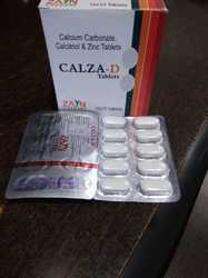 Calcium Carbonate 1250 mg (Elemental calcium 500 mg)   Zinc sulphate 7.5 mg Vitamin D3 250 I.u. tab