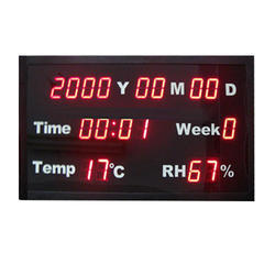 Time And Temperature Display Board