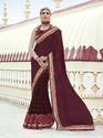 Designer Saree With Heavy Embroidery