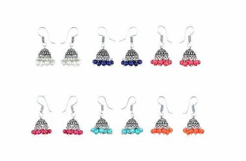 eb44ad7cbb5fe Jhumki Earrings - Waama Jewels Combo Of 6 Jhumki Earrings For Women ...