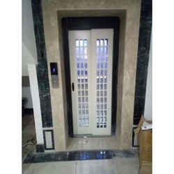 Mild Steel Pristine White Automatic Telescopic Door for Hotel
