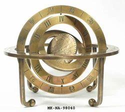 Antique Brass Nostradamus Calender