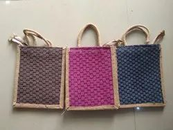 Short Cotton Padded Zipper Jute Carry Bags, Size/Dimension: 8x 10