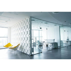 Modular Plain Frameless Glass Partition, Thickness: 8-12 Mm, Size/Dimension: As Needed