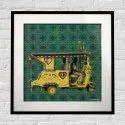 Yellow Auto Rickshaw Framed Art Print