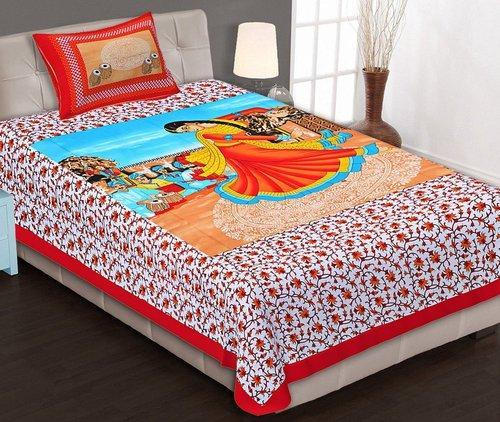 Double Bed King Size Bed Sheet With 2 Pillow Covers