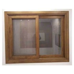 Horizontal Polished Home Wooden Sliding Window