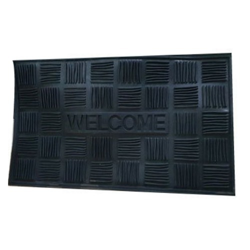 Black Anti Slip Rubber Door Mat, for Entrance