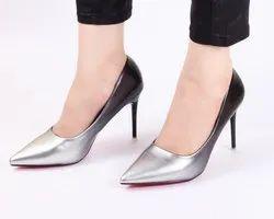 Partywear Silver Ombre High Heels Ladies Bellies