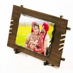 Sublimation Gift Potli Personalized Stone Photo Frame with Wood