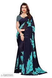 Ligalz Present New Chiffon Saree With Blouse