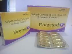 Cod Liver Oil & Natural Vitamin E Softgel Capsules, 10*1*10