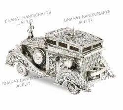 Silver Antique Metal Car