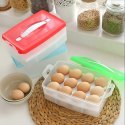 Egg Storage Box Tray Container Basket for Refrigerator and Kitchen Egg Storage(24 Grids Egg Box)
