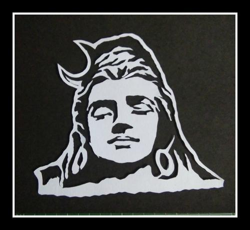 Paper Cutting Portraits Of Lord Shiva
