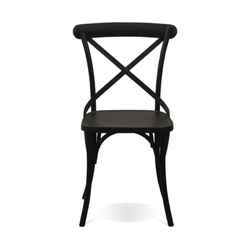 Outdoor Cross Back Metal Chair