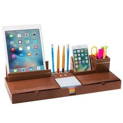 Leather Pen Stand / Desk Organizer