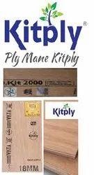 hard wood Brown Kitply Plywood, For Furniture, Grade: Mr And Bwr Grade