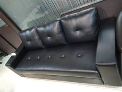 Black Adinath Home Sofa Plus 3 Seat