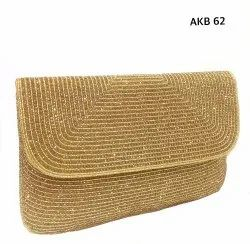Beautiful Gold Envelope Clutches Bags Akb 66, Packaging Type: Box Pack