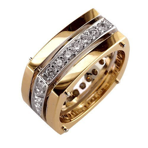 18k Gold Ring With Diamonds Stylish Mens Diamond Ring at Rs