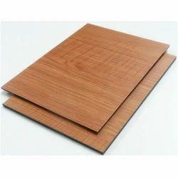 Brown Wooden Aluminum Composite Panel