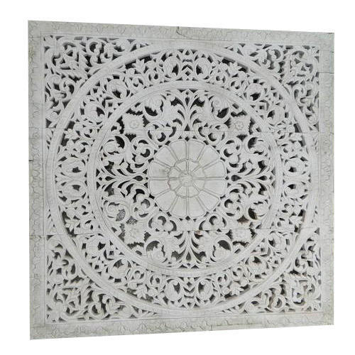 India Impression White Carved Wood Wall Panel Id 8123555573