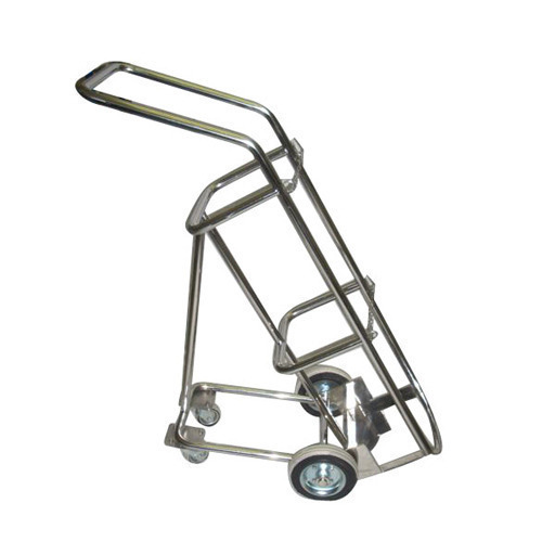 SS Hospital Cylinder Trolley