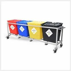 Biomedical Waste Segregation Trolley